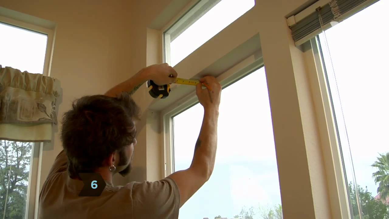 how to install window blinds - youtube