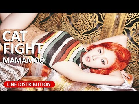 MAMAMOO - Cat Fight Line Distribution (Color Coded)