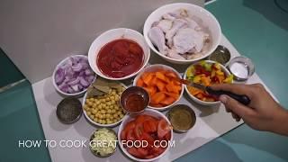 How to Make Chicken Stew Video Recipe - Chickpea Garlic Tomato