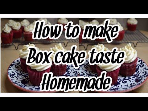 How To Make A Box Cake Taste Homemade // Red Velvet //Boxed Cake Mix Hack