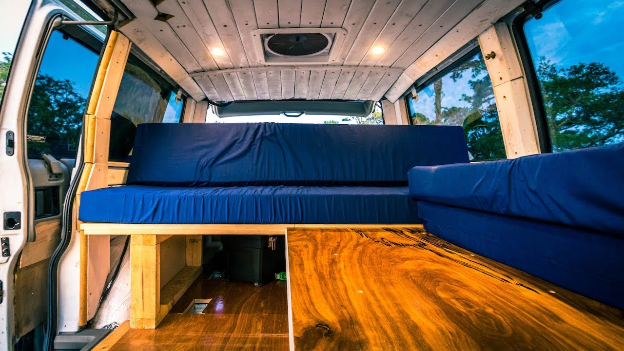 A Tour of Our Astro Van Camper - Family of 4 in a Van ...
