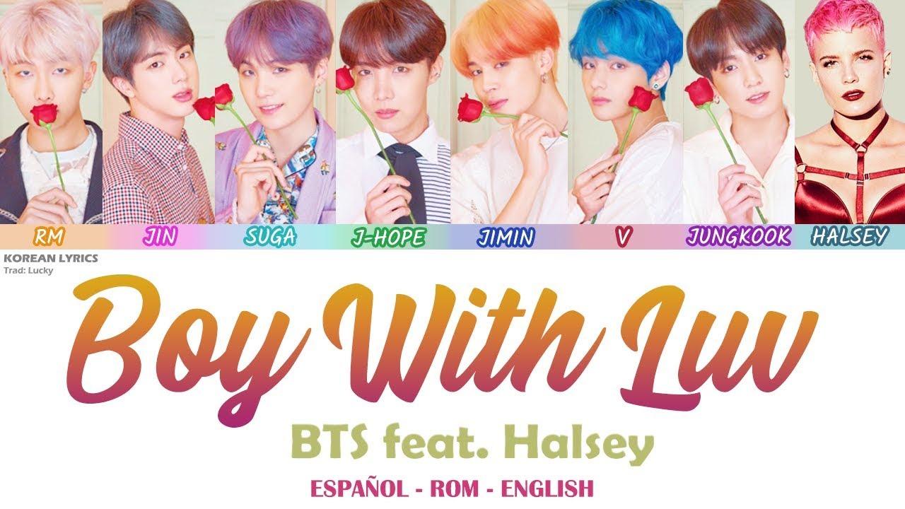 BTS - Boy With Luv feat. Halsey   Lyrics: Español - Rom - English - YouTube