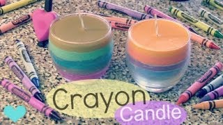 CRAYON CANDLE - How To - Home Decor - Fall Into Crafts