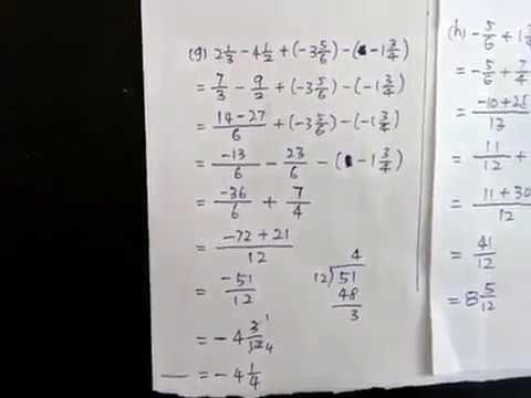 第 4 课 3.5 (2) 带分数的加减法 (3-7)