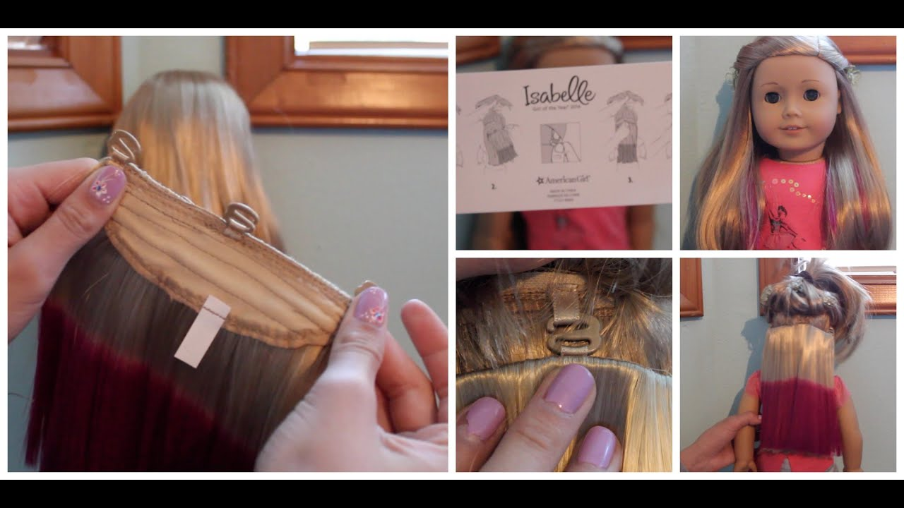 How To Put In Isabelles Hair Extensions Goty 2014 Youtube