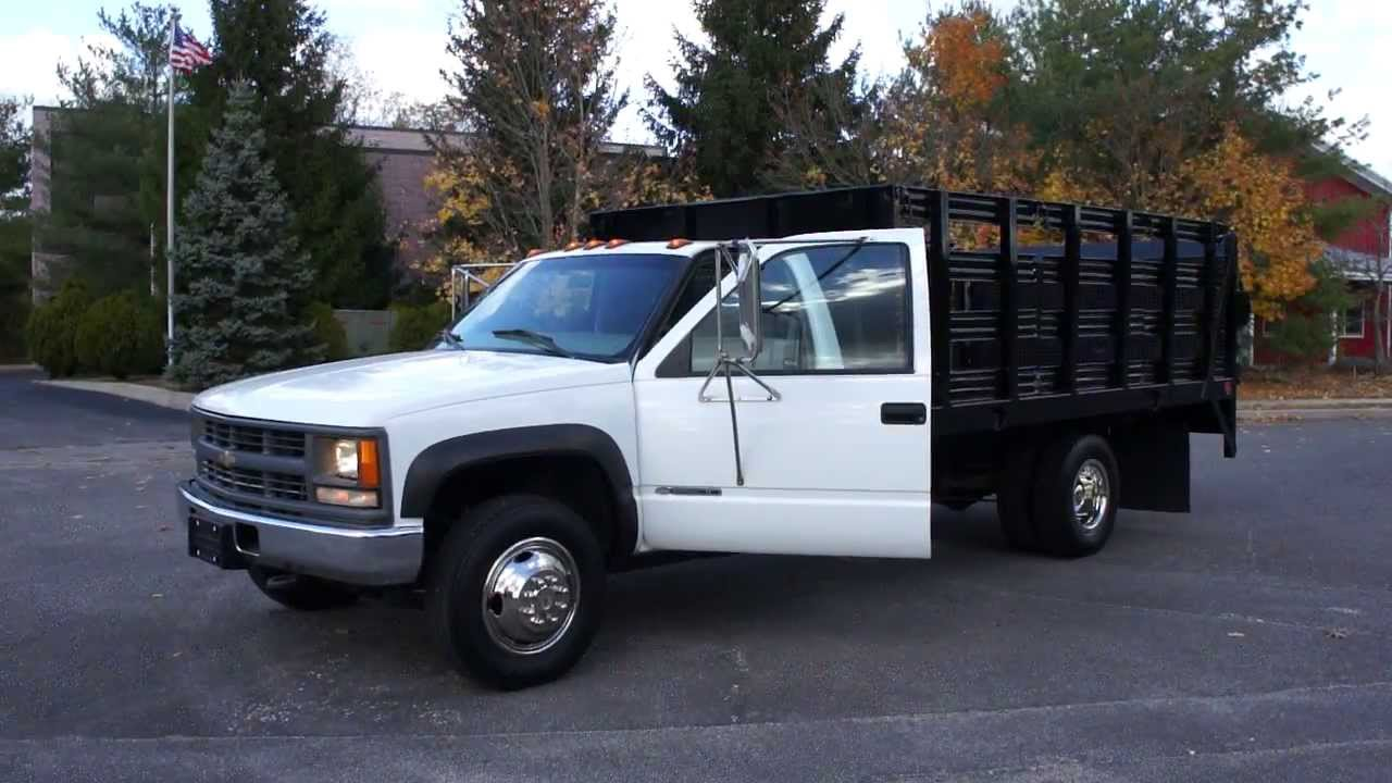 All Chevy 95 chevy 3500 diesel : 2000 Chevy 3500 4x4 Rack Body Truck For Sale~BRAND NEW 6.5L Turbo ...
