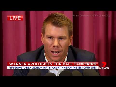 "Cricketer David Warner ""Dodging"" Media Questions @ Press Conference Mar. 31, 2018"