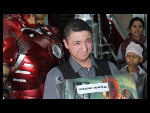 Happy Kids Iron Man live visist a Cancer Hospital in Frankfurt