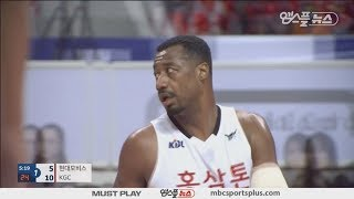 【HIGHLIGHTS】 David Simon H/L  | Phoebus vs KGC | 20171209 | 2017-18 KBL