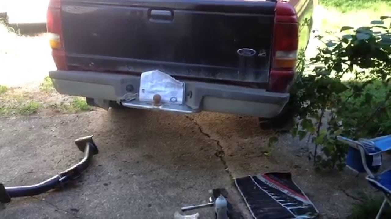 maxresdefault 1994 ford ranger trailer hitch installation youtube 1987 Ford Ranger Wiring Harness at eliteediting.co