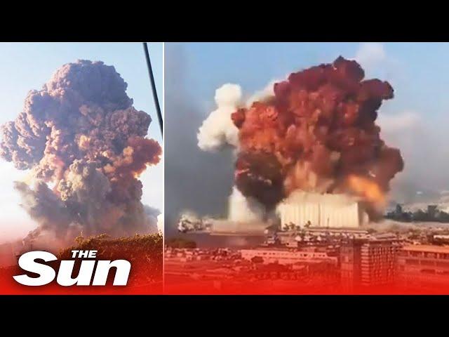 Beirut explosion - mushroom shaped blast rips through Lebanese capital