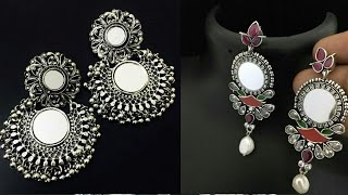 Designer Silver Earring Collection||German Silver Earring Collection||