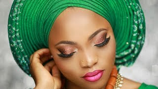 Download Video Nigerian Bridal Makeup tutorial /  Pleated Gele. MP3 3GP MP4