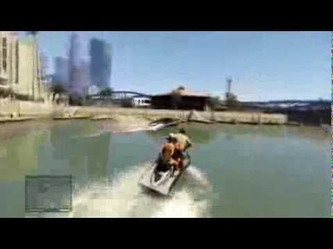"GTA V - Second Michael's mission - Daddy's little girl - Bike + Jet ski + flee from ""bad guys"""