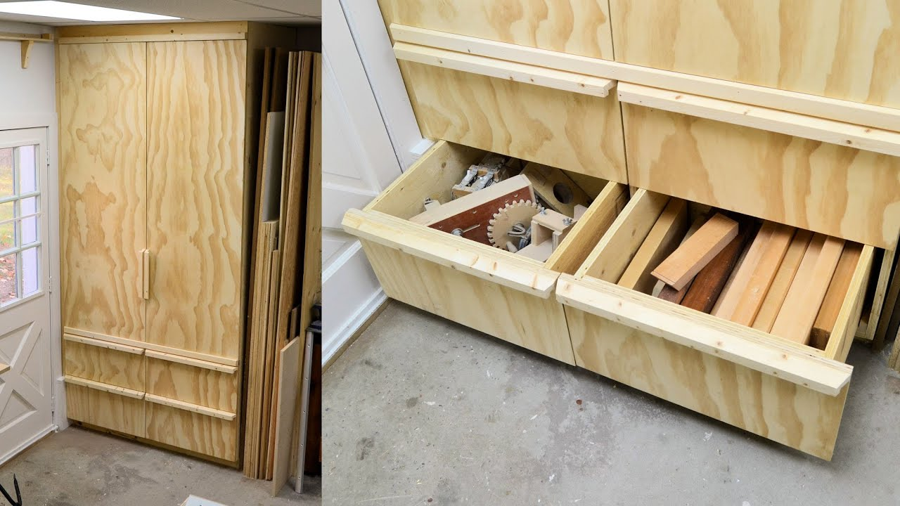 Making A Deep Shop Cabinet With Drawers, Part 3 | Doovi