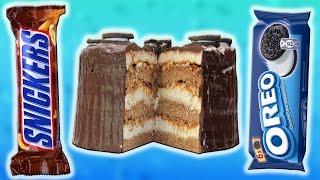 Огромный ТОРТ СНИКЕРС с Печеньем OREO. Супер Рецепт!