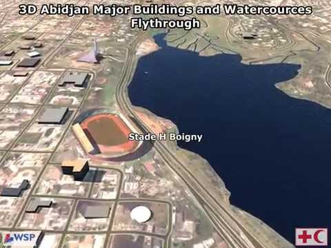 Abidjan city and watercourses