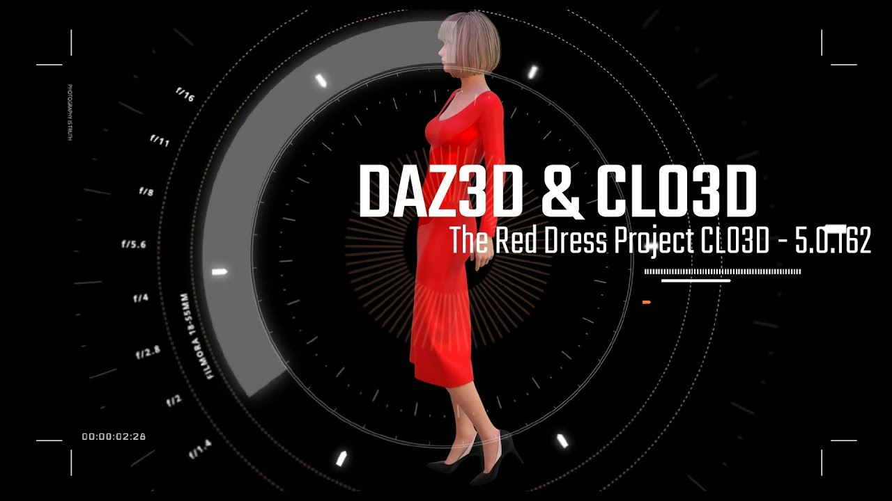 CLO3D & Daz3d - Red Dress Tutorial