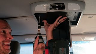HOW TO INSTALL BOSS 12.1 DVD PLAYER INTO Ford 350 VAN