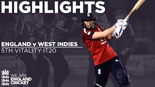 England v West Indies - Highlights | 5 Over Thriller As England Go 5-0 | 5th Vitality IT20 2020