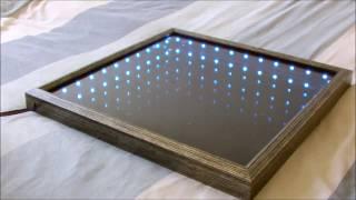 Make An L E D Illusion Mirror! - yeni tasarım led yansıtma tekniği