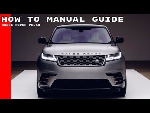 2018 Range Rover Velar Features & Options Manual Guide How To