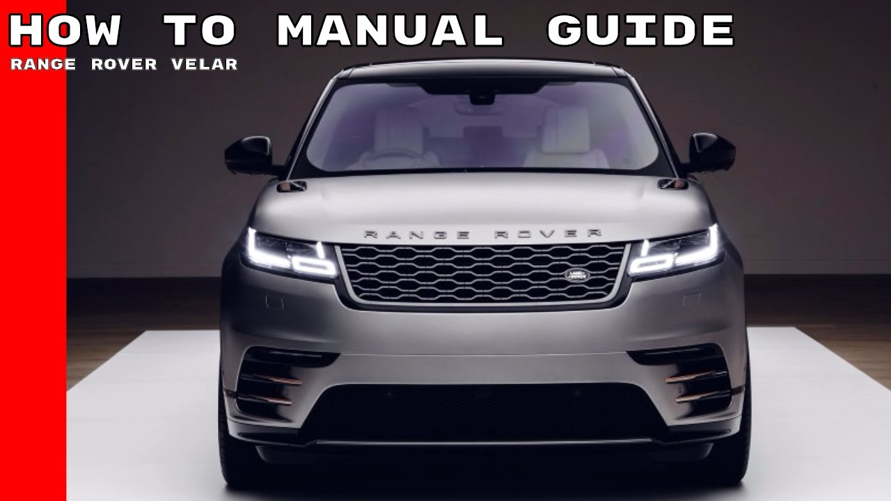 medium resolution of 2018 range rover velar features options manual guide how to