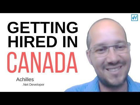 How Achilles got hired in Toronto as a .NET developer