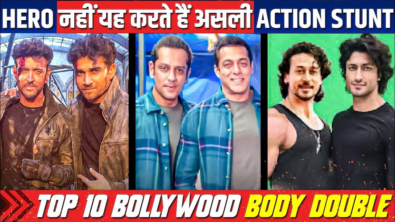 Top 10 Bollywood Actors Body Double, Top Bollywood Actors Used Duplicate Stuntman In Movies