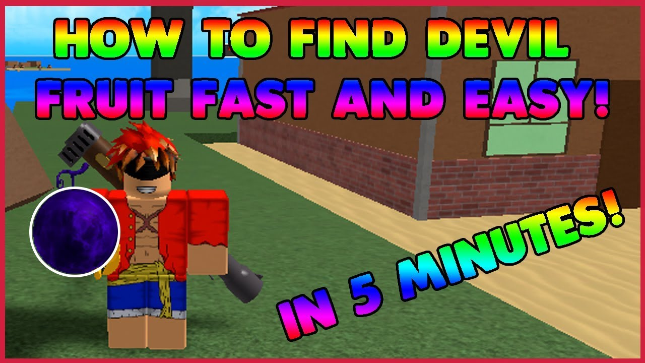 How To Find A Devil Fruit Fast One Piece Millennium Roblox Youtube