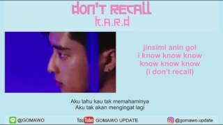 Video LIRIK KARD - DON'T RECALL by GOMAWO [LIRIK KOREA, INDONESIA & MV] download MP3, 3GP, MP4, WEBM, AVI, FLV Januari 2018