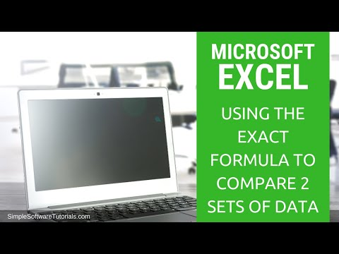 Tutorial: Using the Exact Formula to Compare 2 Sets of Data in Excel 2016