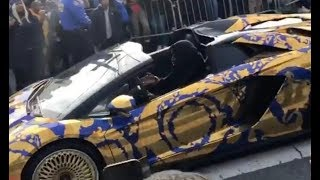 50 Cent Pulls Up To Pop Smoke Funeral In Brooklyn