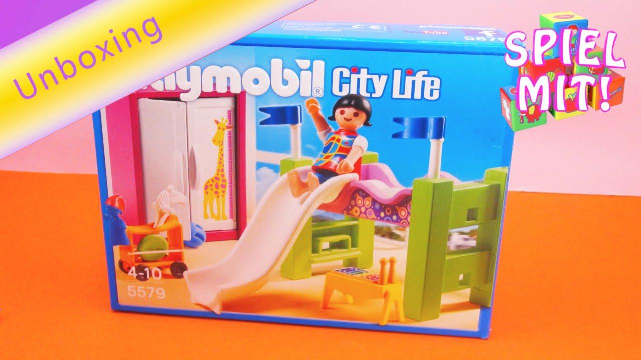 Playmobil city life kinderzimmer mit hochbett und rutsche for Kinderzimmer playmobil