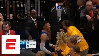 Russell Westbrook has two confrontations with fans at Game 6 of Thunder vs. Jazz | ESPN