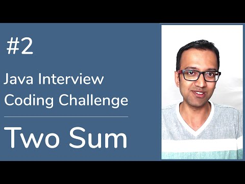 Java Interview Coding Challenge #2: Two Sum