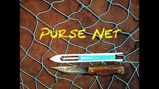 Purse Net - Net Making - How to Make a Shaped Purse Hammock Net - Easy to Follow Net Making Tutorial