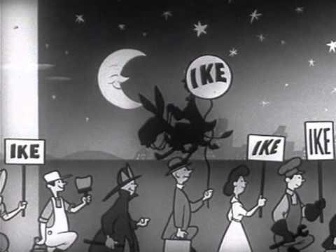 Dwight D Eisenhower 1952 I Like Ike Political Ad with Jingle