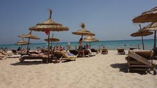Отель  Movenpick Resort Тунис Сусс. Обзор Пляж, Море и территория отеля на рассвете