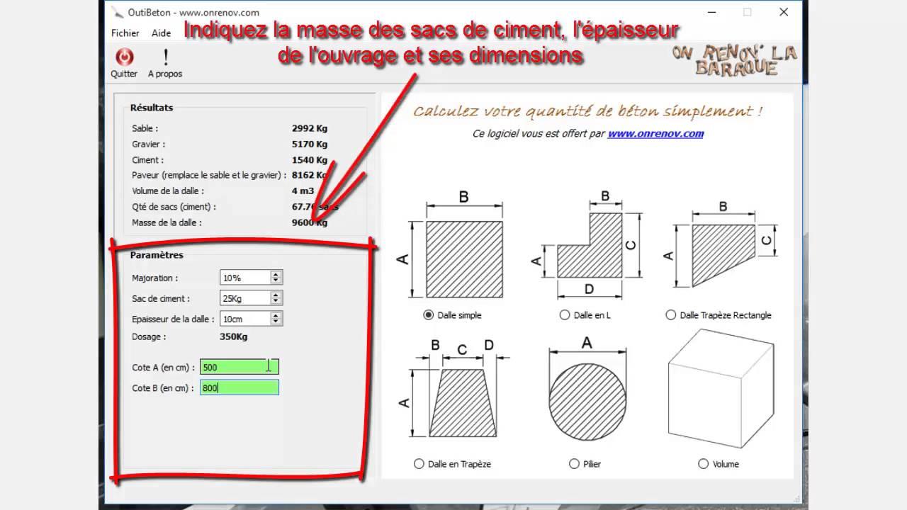 calculer m3 beton beautiful calcul volume with calculer. Black Bedroom Furniture Sets. Home Design Ideas