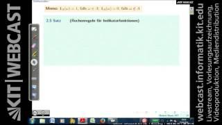 Lektion 01, Einführung in die Stochastik, Vorlesung, SS 2014