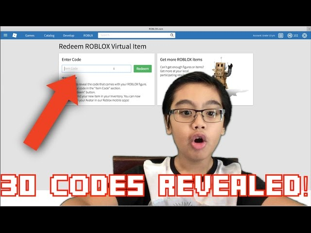 Roblox Virtual Item Codes Revealed Youtube