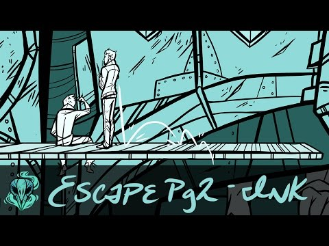 Escape Page 2 Inking ||  Graphic Novel Page || Speedpaint