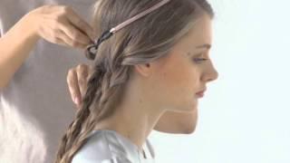Видеоурок: прическа пучок из косичек