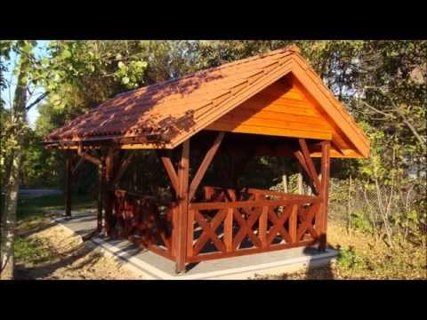 Wiata Drewniana Altana Carport Garaż Drewna Youtube