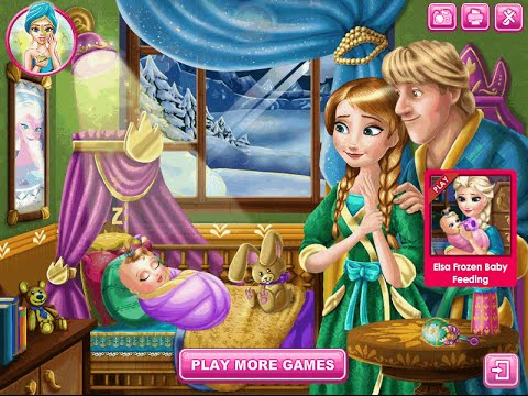 Frozen Anna and Kristoff Baby Feeding Video Game - Baby ...