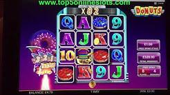 BIG WIN BONUS - DONUTS SLOT !! ONLINE CASINO GAME REAL MONEY PLAY