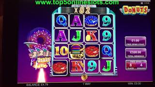 BIG WIN BONUS - DONUTS SLOT !! ONLINE CASINO GAME REAL MONEY PLAY