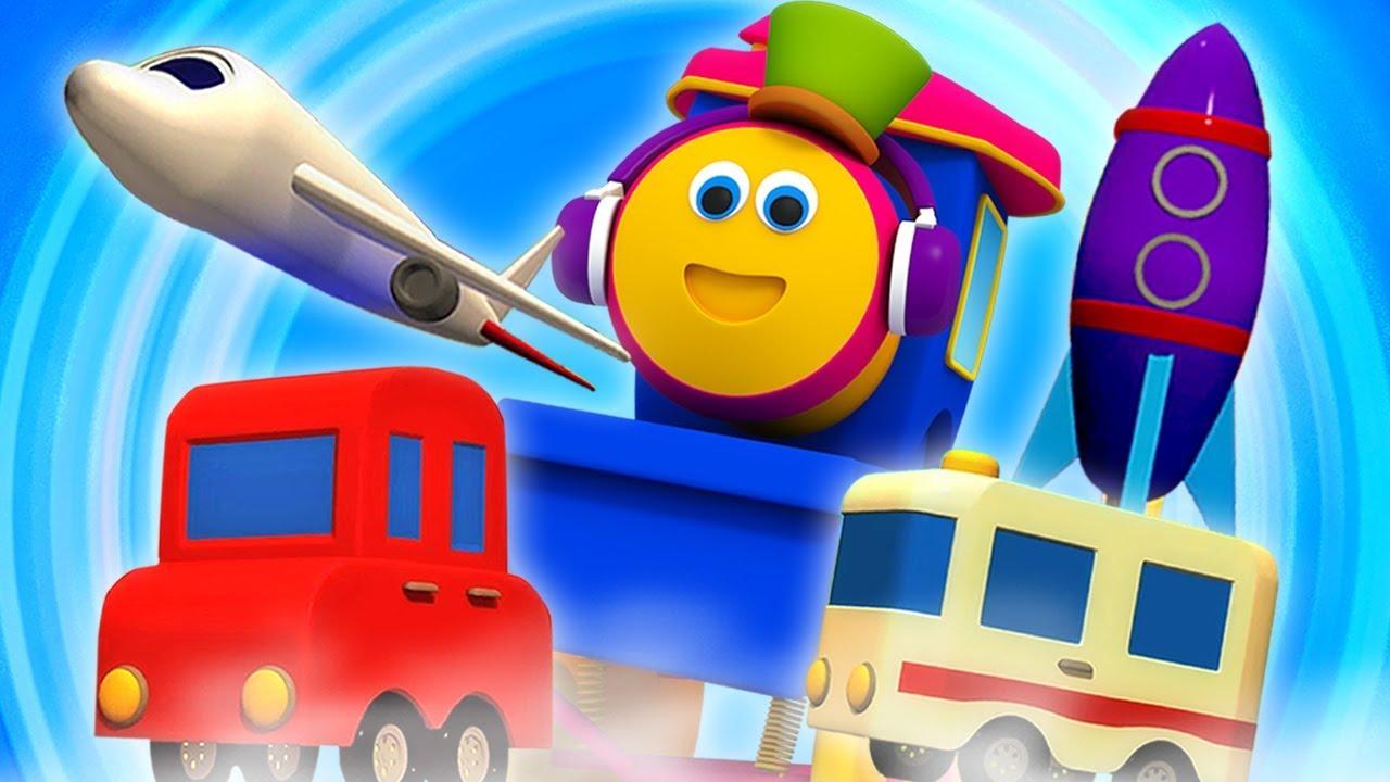 bob kereta   belajar video   kereta transportasi   Bob Transport Train   Learning Vehicle For Kids