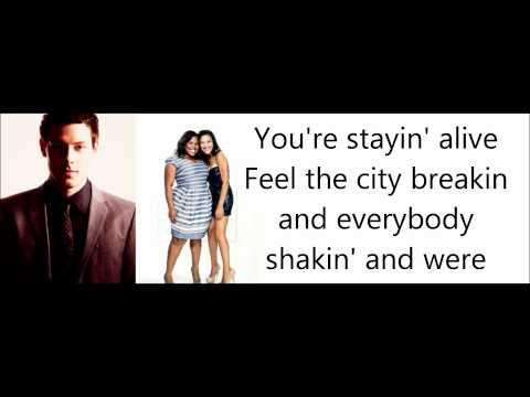 Glee- Staying Alive Lyrics